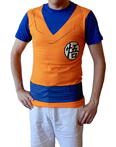 Goku Dragon Ball Z Costumes (Dragon Ball Z Goku Outfit Costume Adult T-shirt (S))