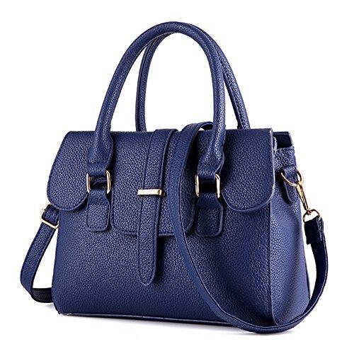 La mujer Xinmaoyuan Bolsos Bolso de mujer Simple Candy Portable Bolso pequeño paquete lateral, luz azul Azul oscuro
