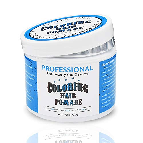 Hair Coloring Pomade Blue Temporary Hair Dry...
