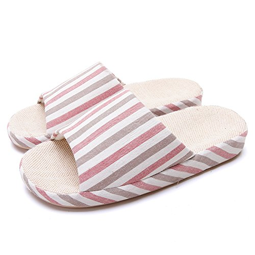and Size Bottom Indoor Slippery Linen Summer D Floor Slippers Slippers Home Home Spring 4 Colors Slippers Wooden Optional ZZHF Couple Optional Slippers Soft Female px8PSRwnYq