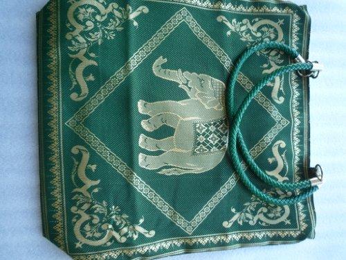 Ariyas Thaishop, Borsa a tracolla donna Verde verde Groß