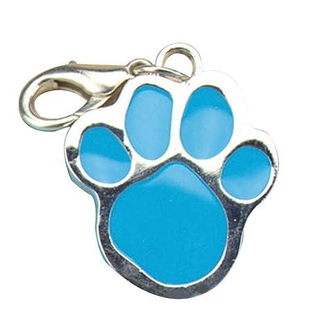 Zerama Huella Llavero del Perro de Animal doméstico del Gato del Acero Inoxidable de la Pata del Animal de la impresión de Tarjetas de identificación ...