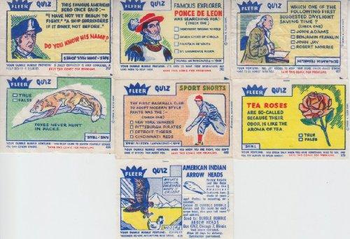 Fleer Bubble Gum (Vintage Fleer Quiz Bubble Gum Comic 7 Comic Lot #373,382,397,404,407,409,419)