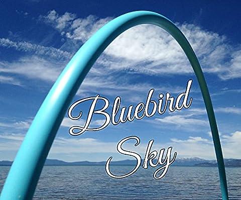 34ʺ 3/4 Colored PolyPro Bluebird Sky Hula Hoop - By Colorado Hula Hoops - Hula Hoop Tricks