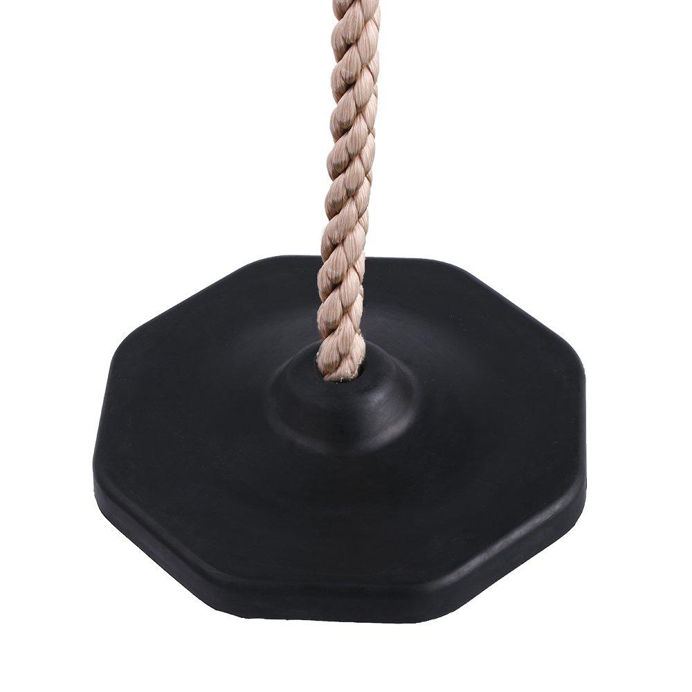HAPPYPIE Drau/ßen h/ängender Baum Scheibe Schaukel Kletterseil mit Plattform Schaukel Set Schnell-Installation Zubeh/ör enthalten Gr/ün