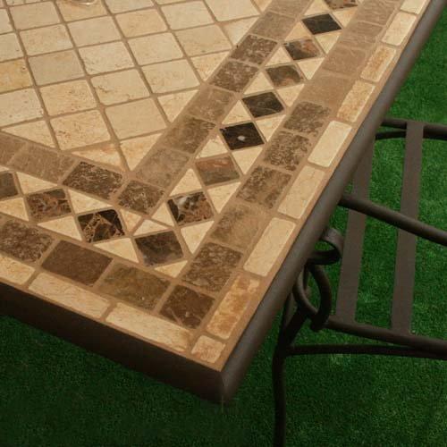 Tavolo Da Giardino In Ferro E Mosaico.Tavolo In Ferro Battuto Da Giardino Piano In Mosaico 200x100 Amazon