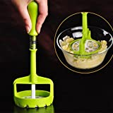 Potato Mud Pressure Machine Fruit Ricer Juicer Crusher Squeezer Accessories Cooking Tools Curved Handle, Comfortable Hand-feel. Food Grade Pp Material, Non-toxic.