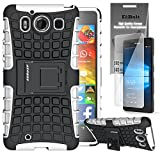 Microsoft Lumia 950 Grenade Combat Case by ElBolt - White with Free HD Screen Protector [Does not fit XL Version]
