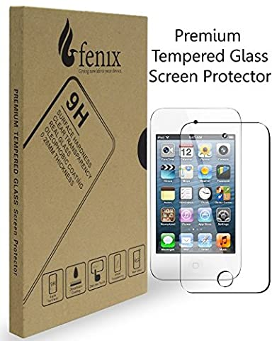Fenix - Apple iPod Touch 4 [0.26mm Thickness] 9-H Premium Tempered Glass Screen Protector with Two Year Warranty / Ultra High Definition Invisible, Clear Transparancy, Oleophobic Coating and Anti-Bubble Crystal (Ipod 4 Screen Glass)