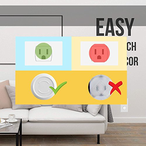 Outlet Plug Covers- Racol 30 Pack Clear Child Proof Electrical Protector Safety Caps with 6 Pack Safety Corner Guards | Corner Covers Baby Safety | Table & Furniture Corner Protectors Corner by Racol (Image #6)