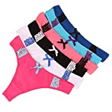 Dimissyo Sexy Panties For Women Underwear Cotton G String Tanga Thong Pack of 6