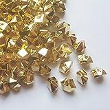 ElE&GANT 1LB(Approx 755Pcs)Plastic Metallic Gold Nuggets For Table Scatter Decoration or Vase Filler (Metallic Golden)