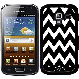 Funda para Samsung Galaxy Ace 2 (GT-I8160) - Zigzag Blanco Y Negro by Djuranne