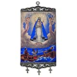 Our Lady of Charity Our Lady of El Cobre Tapestry Icon Banner 17 Inch