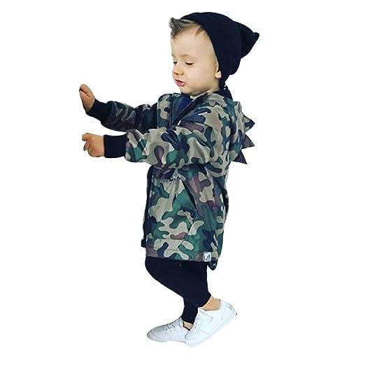 b6b01634a Baby Boys Girls Hooded Coat Toddler Infant Camo Dinosaur Full Zip Sweatshirt