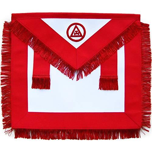 Bricks Masons Masonic Royal Arch Member RAM Apron with Fringe-Lambskin