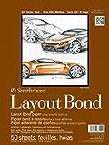 "Strathmore 411-9 400 Series Layout Bond Pad, 9""x12"" Glue Bound, 50 Sheets"
