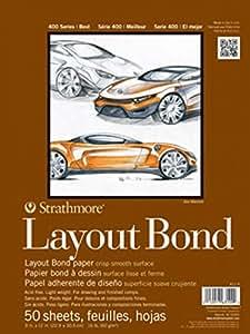 "Strathmore 411-11 400 Series Layout Bond Pad, 11""x14"" Glue Bound, 50 Sheets"