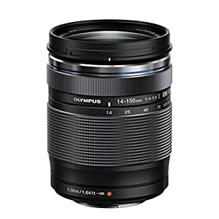 Olympus M.Zuiko Digital ED 14-150mm F4.0-5.6 II Lens, for Micro Four Thirds Cameras (Black)