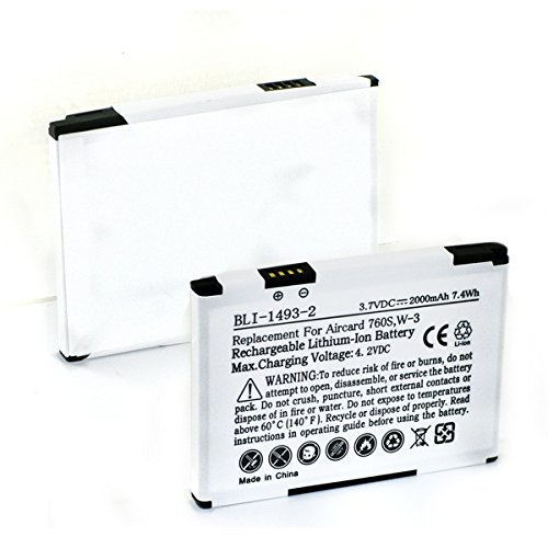 Sierra Wireless Aircard 760S WiFi Hotspot Battery (Li-Ion, 3 7V, 2000mAh)  Rechargeable Battery - Replacement for Sierra Wireless 5200008, W-3 Battery