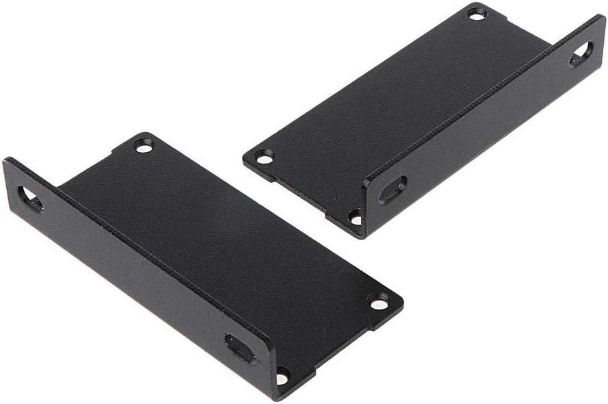 BIlinli Noir 100x76x35mm en Aluminium r/ésistant /à la Corrosion Split Corps en Aluminium Bo/îte Enceinte Cas Projet /électronique Bricolage