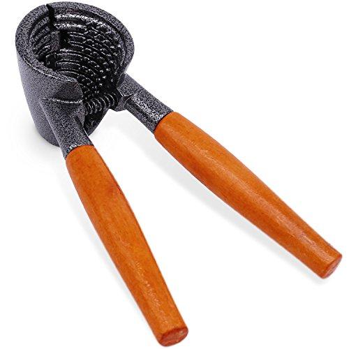 Anwenk Heavy Duty Nutcracker Pecan Walnut Plier Opener Tool with Wood ()