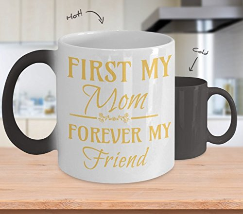 Feed Jack Russell (Best colour changing Mugs For Mom – First my mom forever my friend – Best colour changing Mom Mug – 11 Oz Ceramic Coffee Mug - Coffee Mugs Ceramic - Moms Mug)