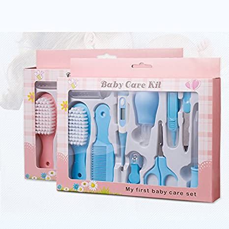 10 pcs kit para cuidar la higiene de los bebés,Estuche de cuidados y salud para bebe,Color Azul: Amazon.es: Bebé