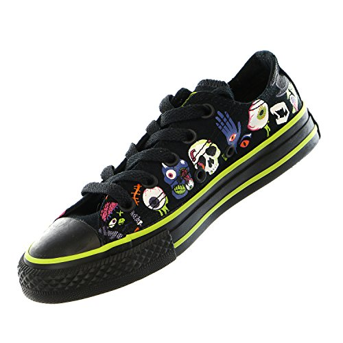 Converse Kid 's Chuck Taylor All Star Estacional Ox Fashion – Camiseta de zapatilla Black/bold Lime/black