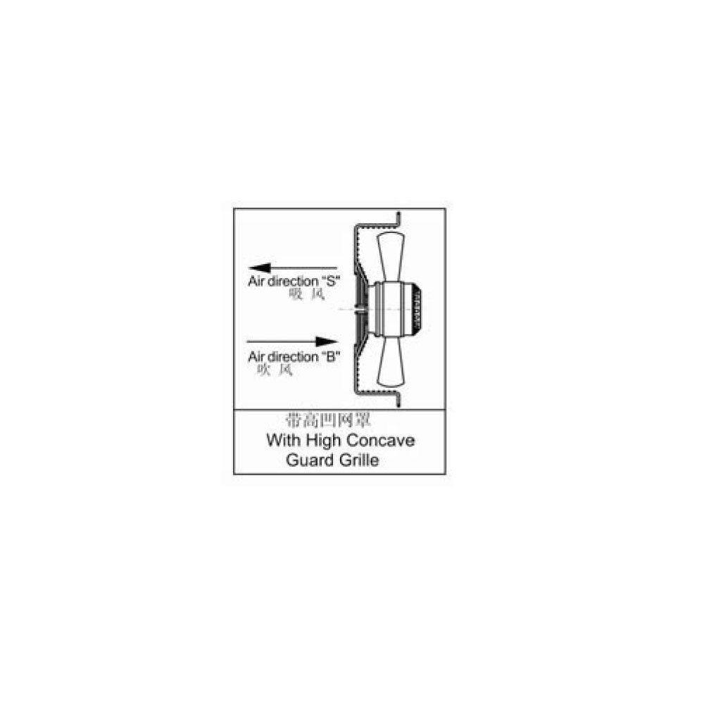 commerciale 6Pole-S 450 mm Airtech-Ventola assiale ventosa per uso industriale