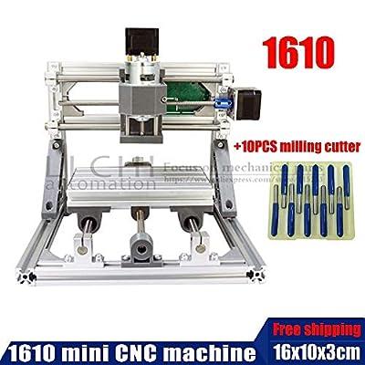 Xligo 1610 Mini CNC Machine, Working Area 16x10x3cm,3 Axis PCB Milling Machine, Wood Router, CNC Router for Engraving Machine