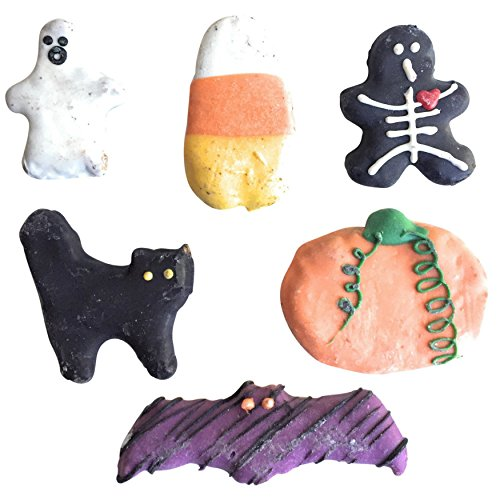 Halloween Dog Treats Black Cat Candy Corn Pumpkin Skeleton Bat Ghost (6 Piece in Gift Bag) for $<!--$12.99-->