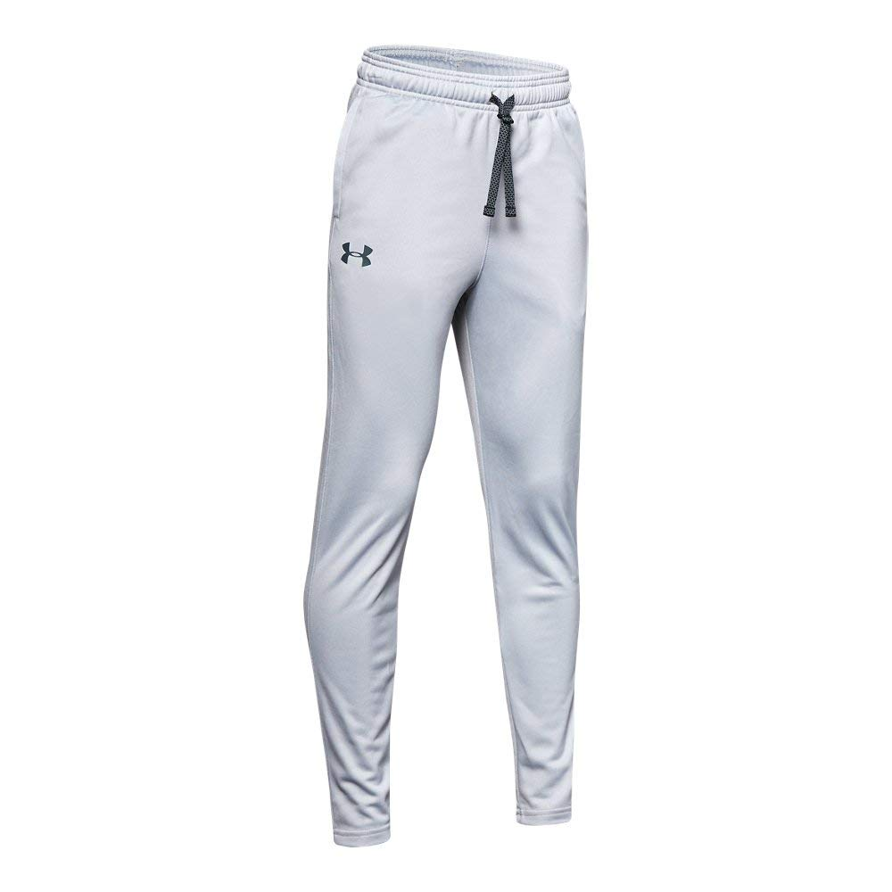 Under Armour Brawler 2.0 Tapered Pants, Mod Gray (011)/Wire, Youth X-Small by Under Armour