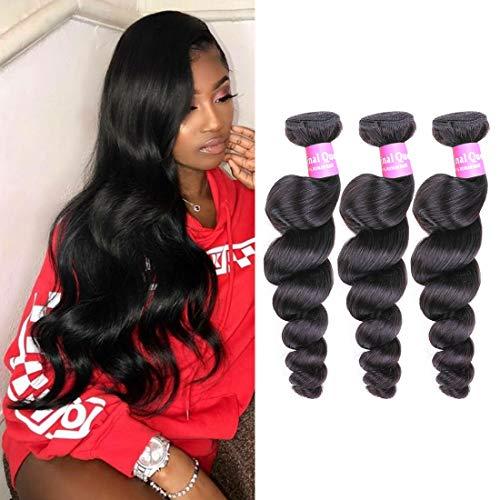 New Deep Wave Weave - Original Queen 8A Grade Brazilian Loose Wave 3 Bundles Virgin Human Hair Loose Deep Weave Unprocessed Loose Curly Weave Natural Color 12 14 16inch
