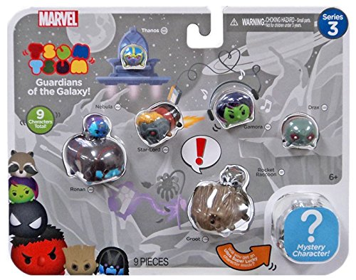 Marvel Tsum Tsum 9 PacK Figures Series 3 Style #2 Jakks 05571
