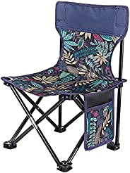 Foldable Camping Seat, Sannofair Portable Camping Stool Four Legged Fishing Chair Compact Ultralight Folding B