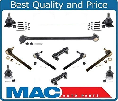 1998-2002 Chevy Express GMC Savanna VAN 2WD G2500 G3500 Drag Link Inner Outer Tie Rods Upper and Lower Ball Joints Set