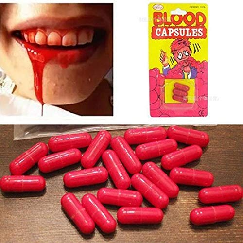 Fake Blood Capsules 3pcs Box Horror Funny Halloween