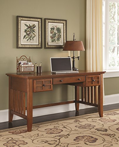 Home Styles 5180-15 Arts and Crafts Executive Desk, Cottage Oak Finish (Desk Writing Style Mission)
