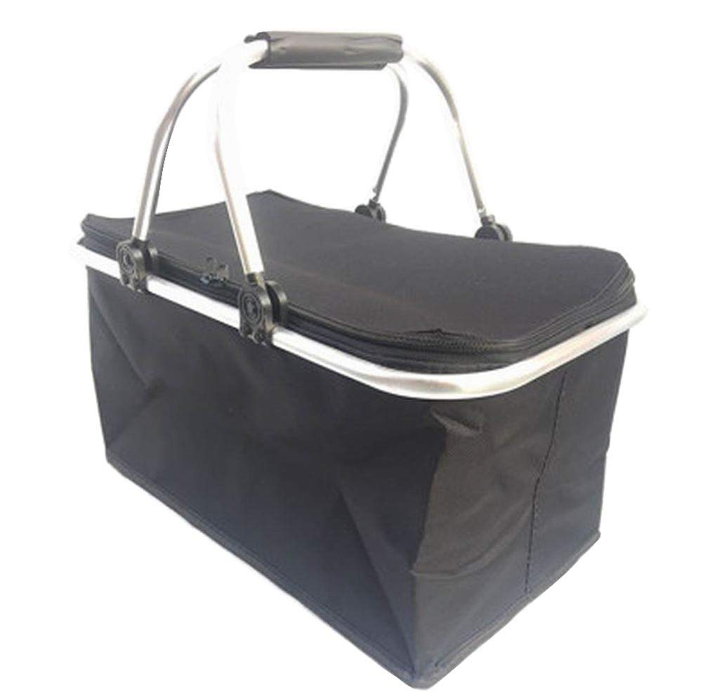 [F] Collapsible Picnic Basket Insulated Picnic Basket Takeaway Box