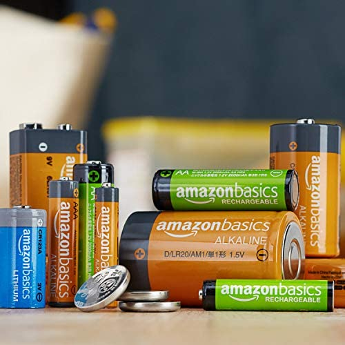 Amazon Basics 20 Pack AAA High-Performance Alkaline Batteries, 10-Year Shelf Life, Easy to Open Value Pack