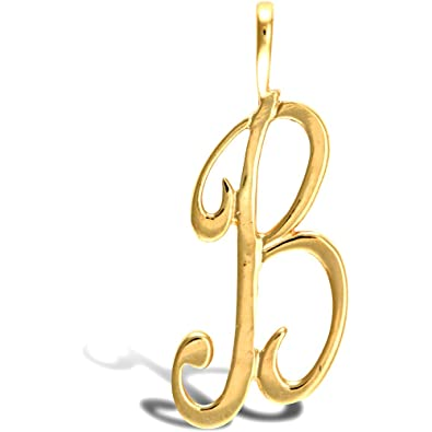 Jewelco London Solid 9ct Yellow Gold Script Identity Initial Pendant Letter A 7gz0G
