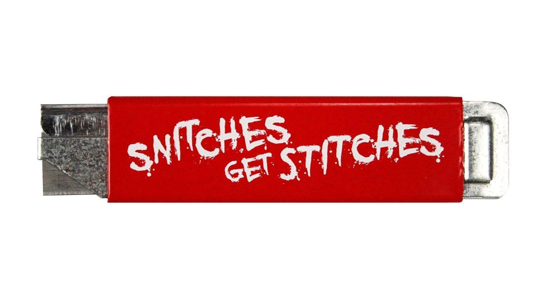 ''Snitches Get Stitches'' Box Cutter (5 Pack) by Violent Little Machine Shop