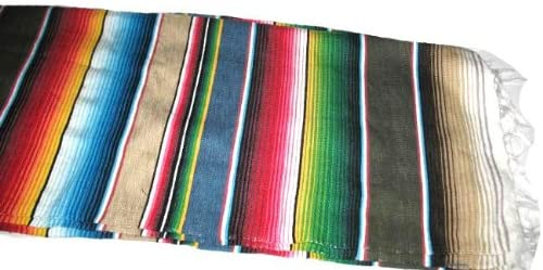 Roger Enterprises Native American Large Authentic Mexican Serape Saltillo Blankets 7 5 Unique Combination of Color