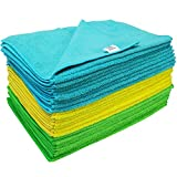 S&T Heavyweight Microfiber Cleaning Towels, 300gsm, 25 Pack