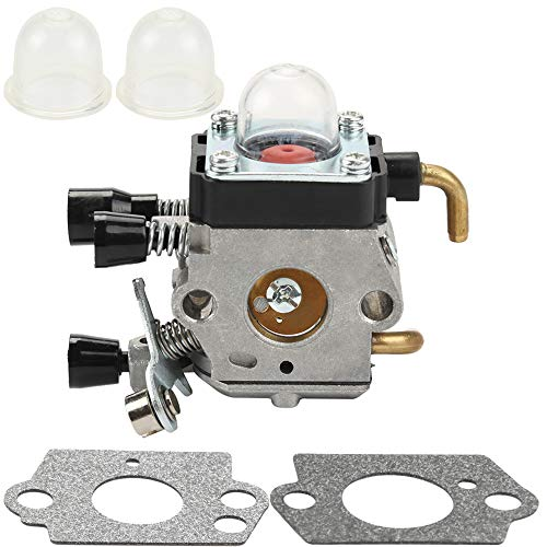 Dalom FS38 Carburetor with Gaskets Primer Bulb for STIHL FS45 Carb Replaces C1Q-S97 String Trimmer Weed Eater