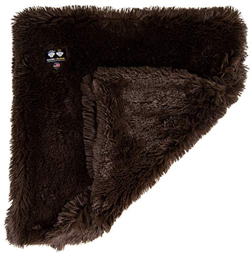 BESSIE AND BARNIE Grizzly Bear Luxury Shag Ultra Plush Faux Fur Pet, Dog, Cat, Puppy Super Soft Reversible Blanket (Multiple Sizes) For Sale