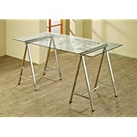 Coaster Home Furnishings Contemporary Writing Desk, Chrome