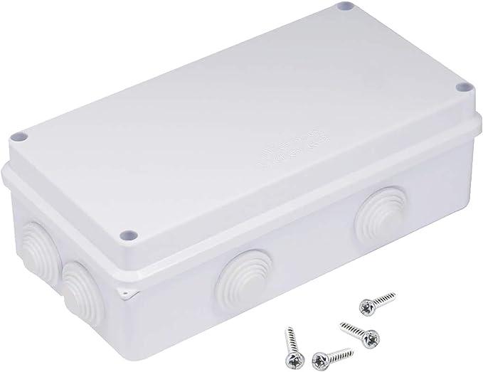 TONGXU Caja de Conexiones Eléctricas ABS Impermeables IP65 a Prueba de Polvo Universal Caja de Proyecto Eléctrico Bricolaje (200 x 100 x 70 mm): Amazon.es: Bricolaje y herramientas
