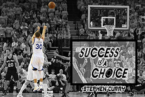 Stephen Curry Poster Quote Cool Golden State Warriors Steph Curry Quotes Posters Basketball Sports Décor Coaching Wall Art Growth Mindset Teacher Educational Teaching Learning Mindsets Quotes P060 (Best Curry In Chicago)
